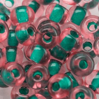 Preciosa Czech glass seed bead 5/0 Atlantis Rose, colour lined
