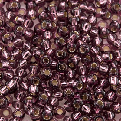 Preciosa Czech glass seed bead 9/0 Amethyst silver lined