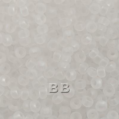 Preciosa Czech glass seed bead 9/0 Crystal matt