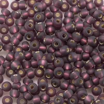 Preciosa Czech glass seed bead 9/0 Medium Purple Matt glass silver lined