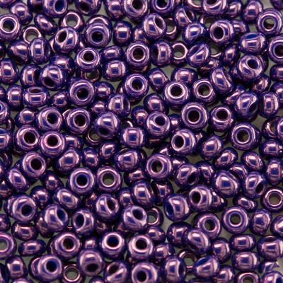 Preciosa Czech glass seed bead 9/0 Purple/Pink/Cobalt Colour Lustered