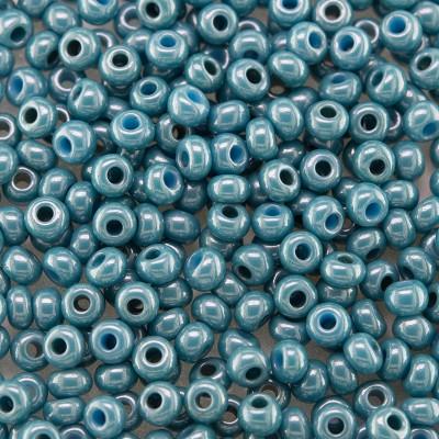 Preciosa Czech glass seed bead 9/0 Turquoise Colour Lustered