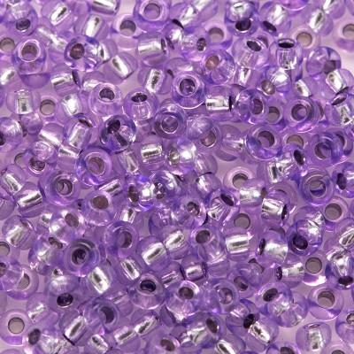Preciosa Czech glass seed bead 9/0 Violet silver lined