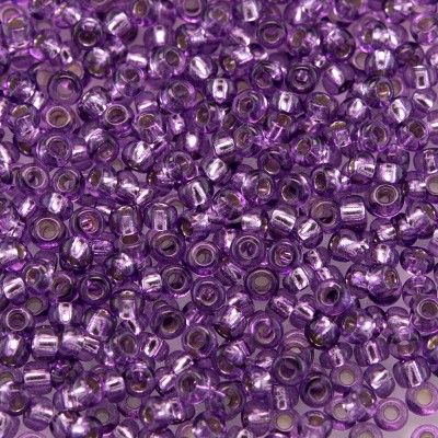 Preciosa Czech glass seed bead 11/0 Violet pink silver lined