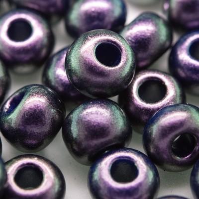 Purple Grape metallic coated glass bead, size 32/0 seed bead - Retail system