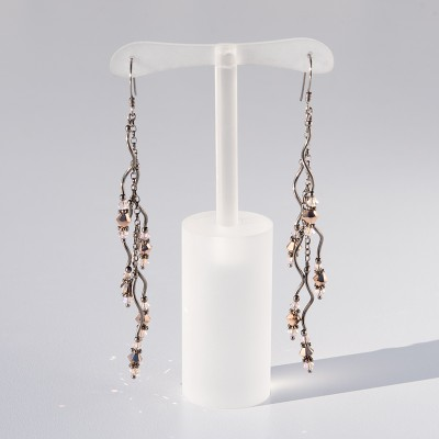 Rose gold  Spirit Crystal Earrings