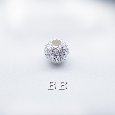 .925 Sterling Silver 4mm Stardust Bead with 1.5mm Hole