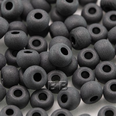 Black Matt size 5/0 seed beads - Retail system