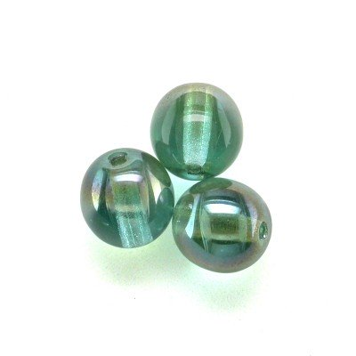 Blue Radiance 6mm round Czech glass druk beads