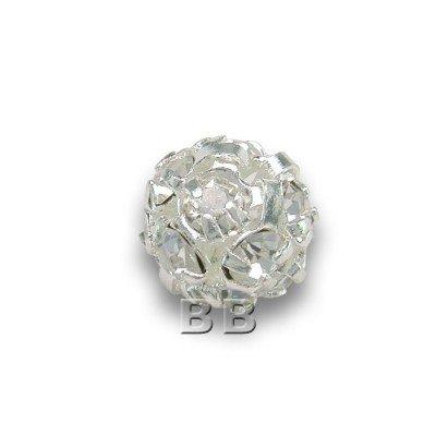 Crystal 6.0mm Silverplated Czech Crystal Rhinstone Ball