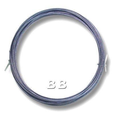 "Light Sapphire coloured, nylon coated 0.45mm/.018"" Dia.7x1 Tigertail"