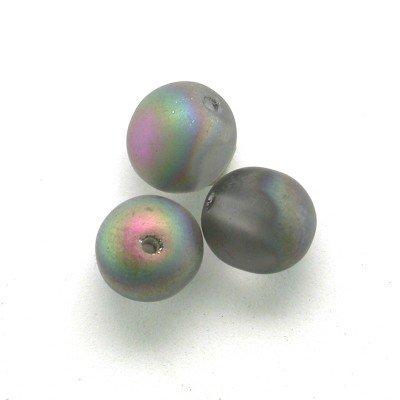 Moonbow Matt 6mm round Czech glass druk beads