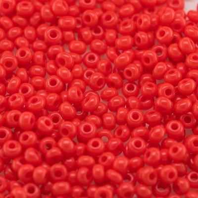 Preciosa 100 Gms Czech glass seed bead 11/0 Poppy Red opaque