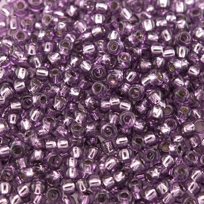 Preciosa Czech glass seed bead 11/0 Wine Berry silver lined
