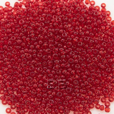 Preciosa Czech glass seed bead 15/0 Medium Red Transparent glass