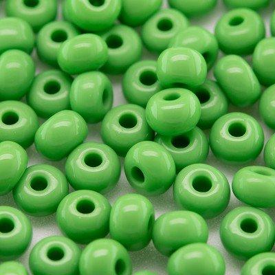 Preciosa Czech glass seed bead 5/0 Bud Green opaque