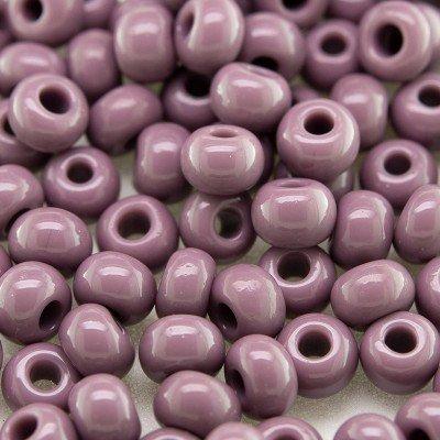 Preciosa Czech glass seed bead 5/0 Mauve Shadows opaque