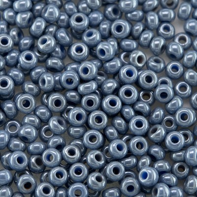 Preciosa Czech glass seed bead 9/0 Blue/Grey Colour Lustered