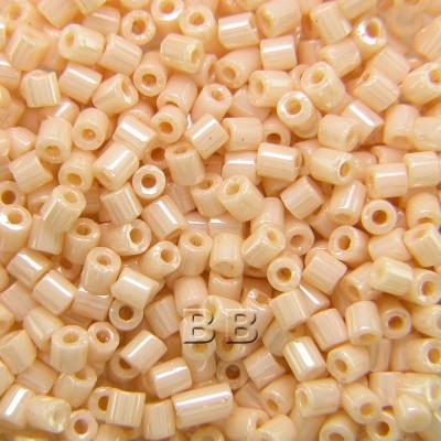 Preciosa Czech glass unica pink cream seed bead 1.6mm Pearl or Shell precision cut tubes