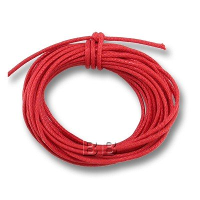 Red Polished Cotton Cord 1.00mm Dia -Retail system