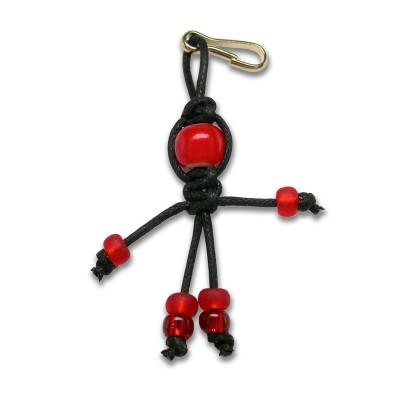 Yuletide faery - bead key ring charm