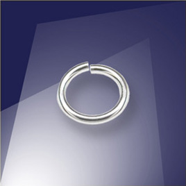 .925 Silver 0.76 x 6.5mm jumpring - Retail system