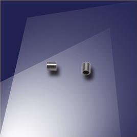 .925 Silver Black Finish Mini Crimp - Retail system