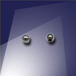 .925 Black Finish Sterling Silver bead or Crimp 1.8mm Dia with a 0.9mm Hole - Retail system