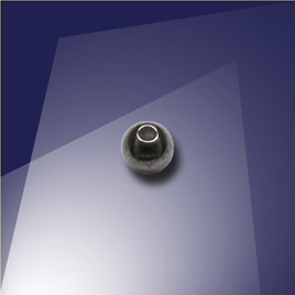 .925 Silver Black Finish 3mm Bead with a 0.9mm Hole - Retail system
