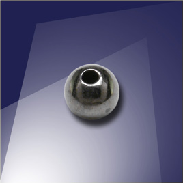 .925 Silver Black Finish 5mm Round Spacer Bead with a 1.5mm Hole - Retail system