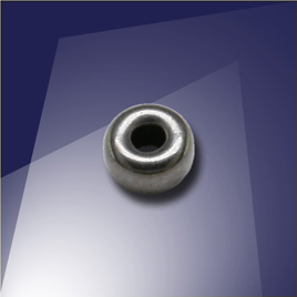 .925 Black Finish Sterling Silver 5mm Roundel with a 2.2mm Hole - Retail system