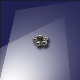 .925 Silver Black Finish 1.2mm Penta Bead - Retail system
