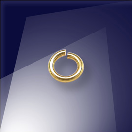 .925 Silver Gold Finish 0.76 x 4.5mm jumpring - Retail system