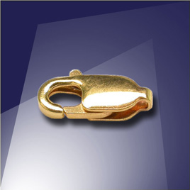 .925 Silver Gold Finish 10.1mm Lobster Clasp - Retail system