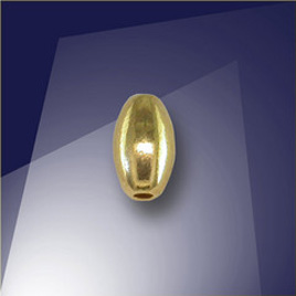 .925 Gold Finish 4 x 6.85mm Oval with a 1.5mm Hole