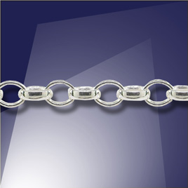 .925 Sterling Silver Trace Chain 4 x 2.5mm
