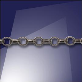 .925 Black Finish Mini Oval Belcher Chain