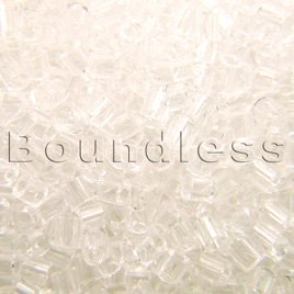 Preciosa Czech glass unica bead/seed bead 1.6mm Clear precision cut tubes
