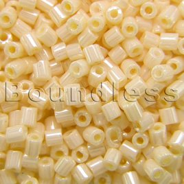 Preciosa Czech glass unica cream seed bead 1.6mm Pearl or Shell precision cut tubes