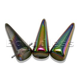 Crystal vitrail 7x17mm spike bead