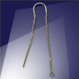 .925 Gold Finish Sterling Silver Ear Threaders