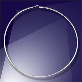 .925 Sterling Silver Add-a-Bead 40mm diameter Hoop