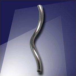 .925 Black Finish Sterling Silver 17.5x1mm Twisty Tube