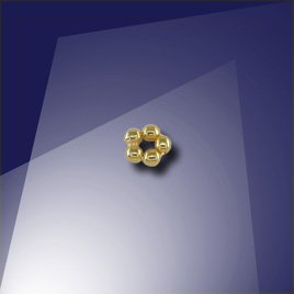 .925 Gold Finish Sterling Silver 1.2mm Penta Bead