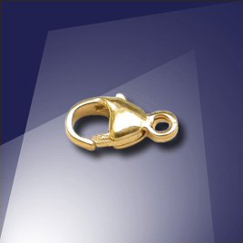 .925 Gold Finish Sterling Silver 7.8mm Mini Oval Trigger Clasp
