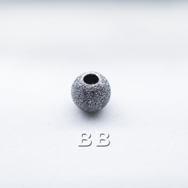 .925 Black Finish Sterling Silver 4mm Stardust Bead with 1.5mm Hole - Retail System