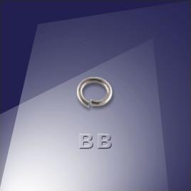 .925 Black Finish Sterling Silver 0.76 x 4.5mm jumpring