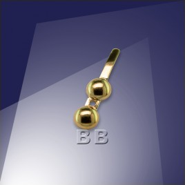 .925 Gold Finish 3/4mm Calote Crimp End Fitting