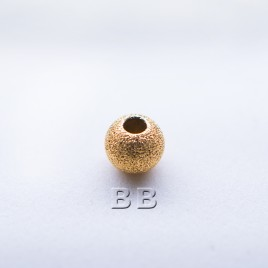 .925 Gold Finish Sterling Silver 4mm Stardust Beads with 1.5mm Hole