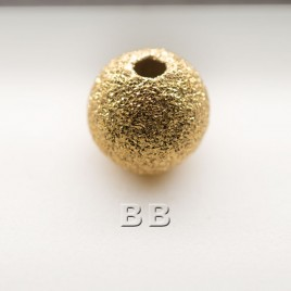.925 Gold Finish 8mm Stardust Beads with 2mm Hole